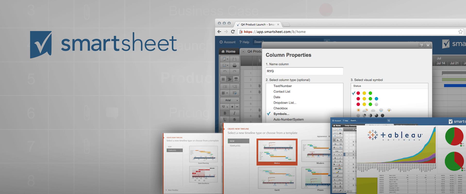New in Smartsheet: Enhanced Symbols, Office Timeline, and Tableau ...