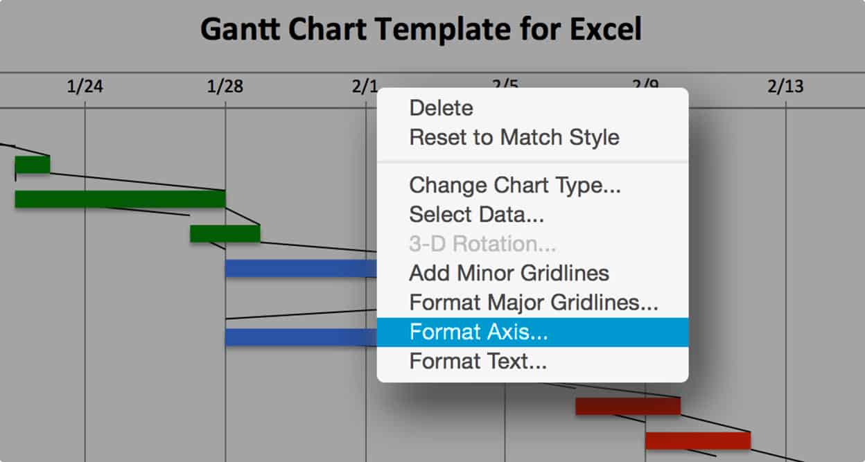 Use this free gantt chart excel template gantt chart excel format date axis ccuart Image collections