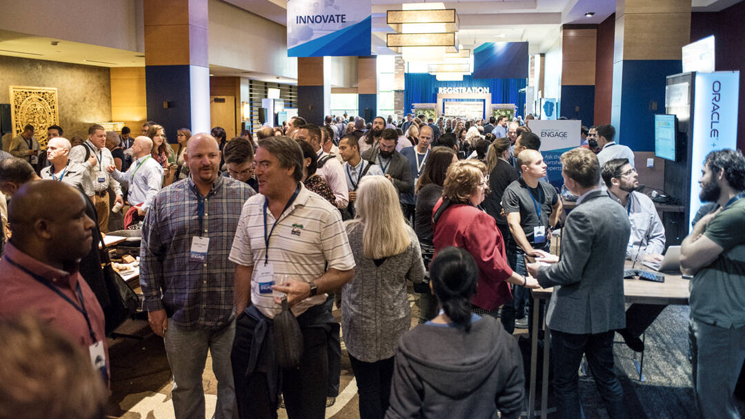 A large crowd of Smartsheet customers at the ENGAGE conference