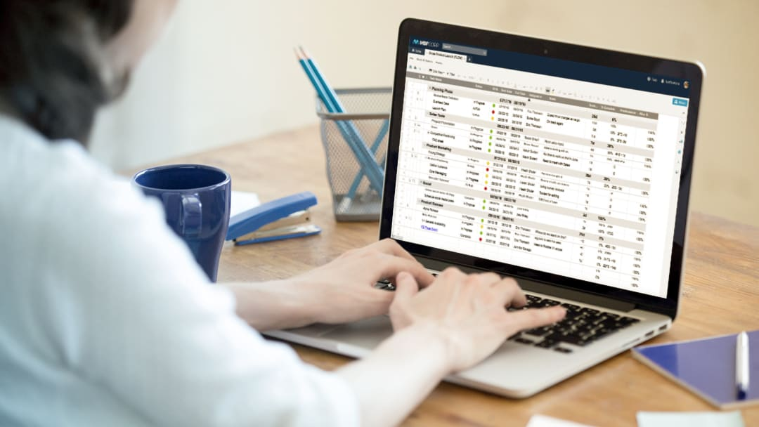 Smartsheet platform viewed on a laptop