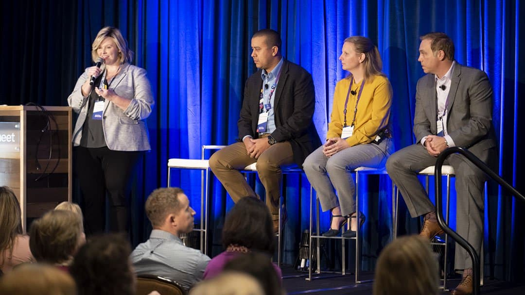 speakers presenting on health care at Smartsheet ENGAGE