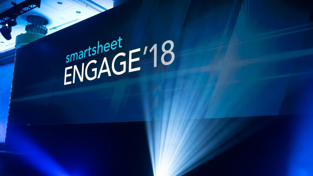 Smartsheet ENGAGE'18 Stage
