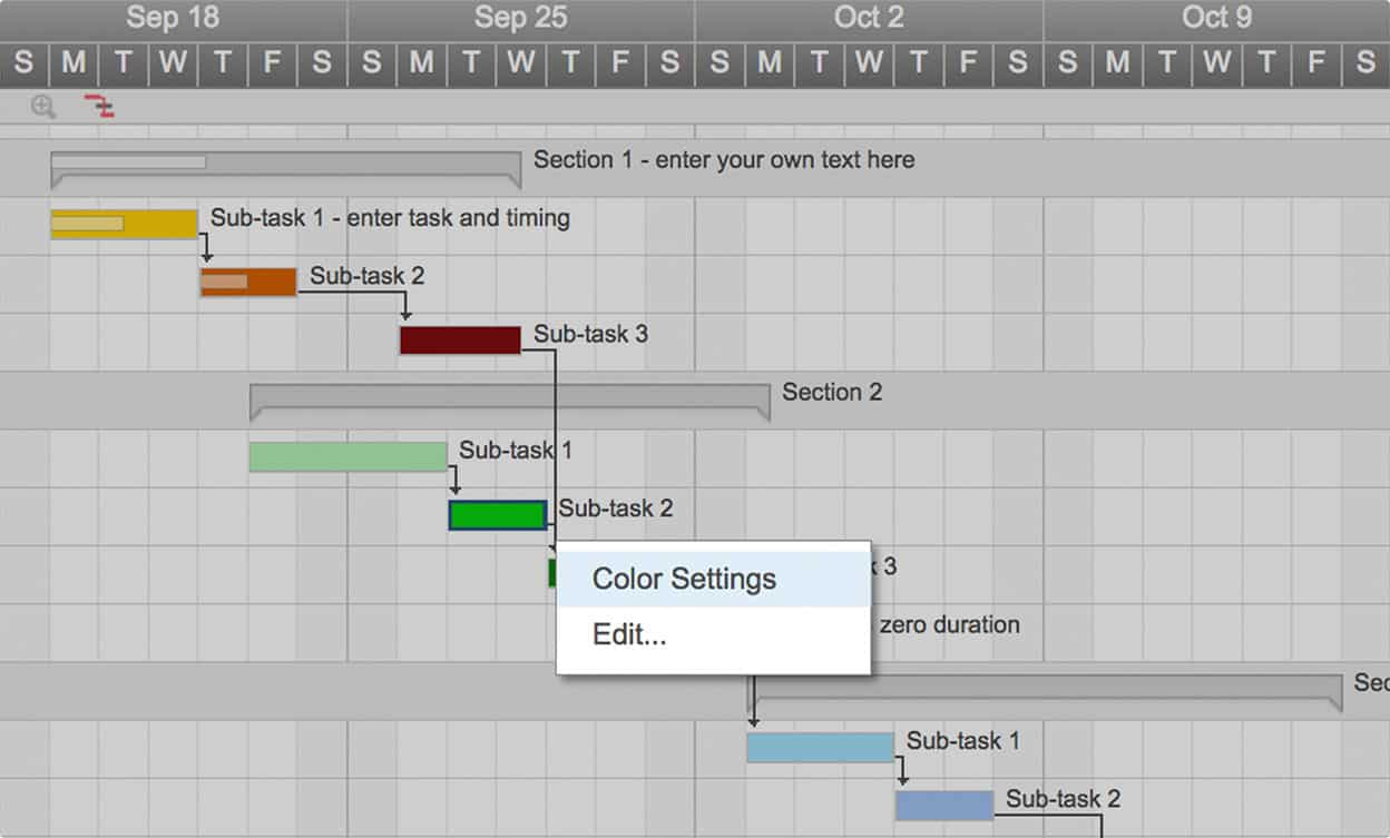 Smartsheet Gantt Chart Color Settings