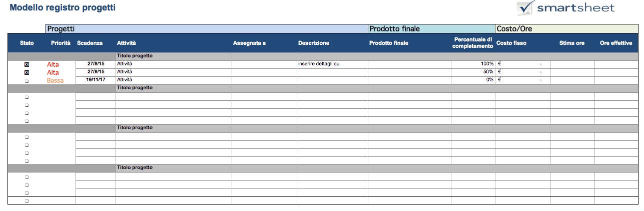 Esempio Calendario Affidamento Condiviso.Modelli Excel Gratuiti Per La Gestione Dei Progetti
