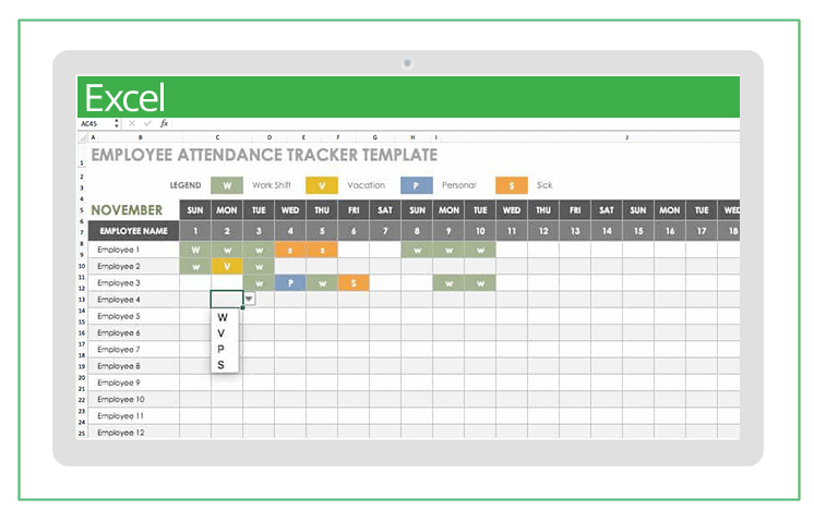 top excel templates for human resources