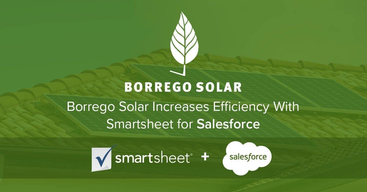 Borrego Solar Cuts Task Time In Half With Smartsheet For