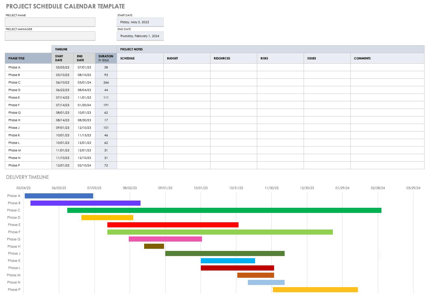 Multiple Month Calendar Template from www.smartsheet.com