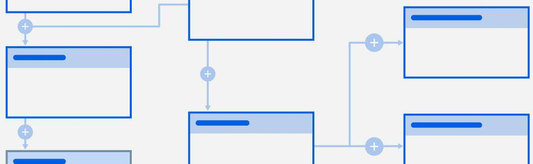 Simple graphic showing mapped out workflows