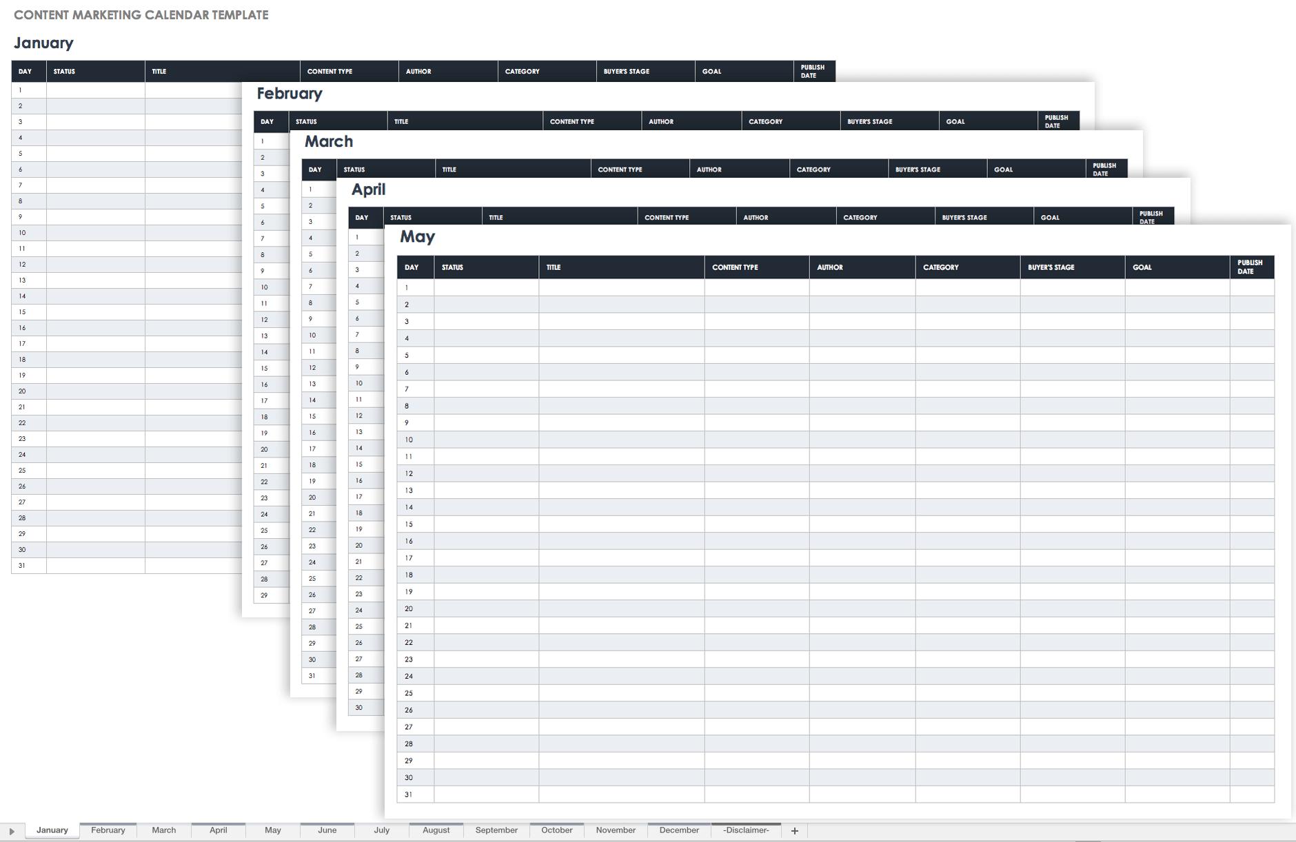 2022 Marketing Calendar.15 Free Marketing Calendar Templates Smartsheet