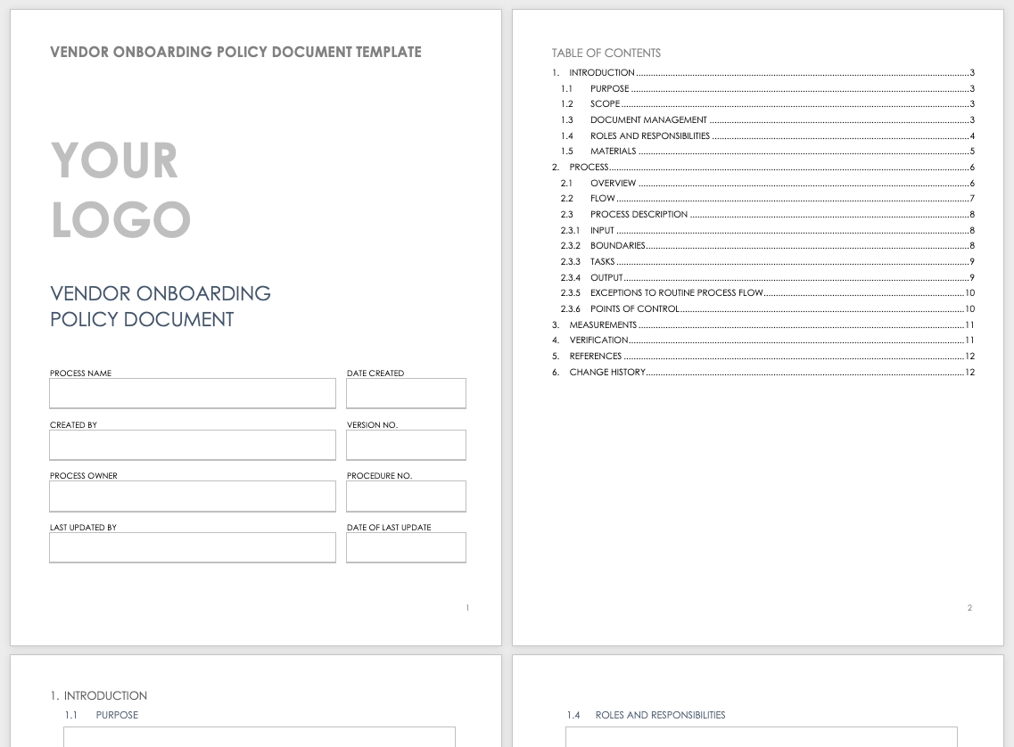 Complete Guide To Vendor Onboarding Smartsheet
