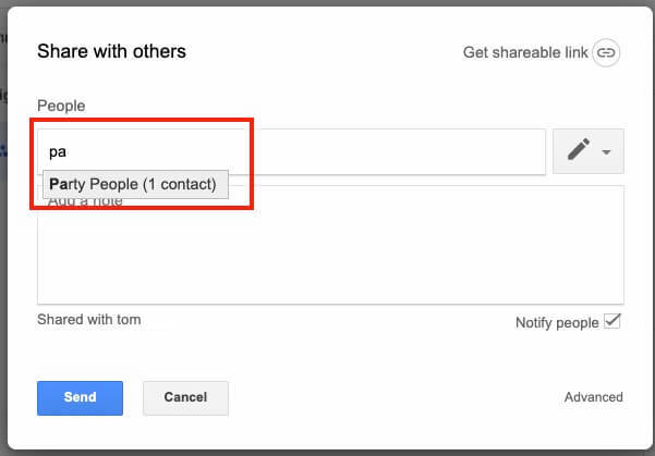 Google Drive Share Create Group Share with Group