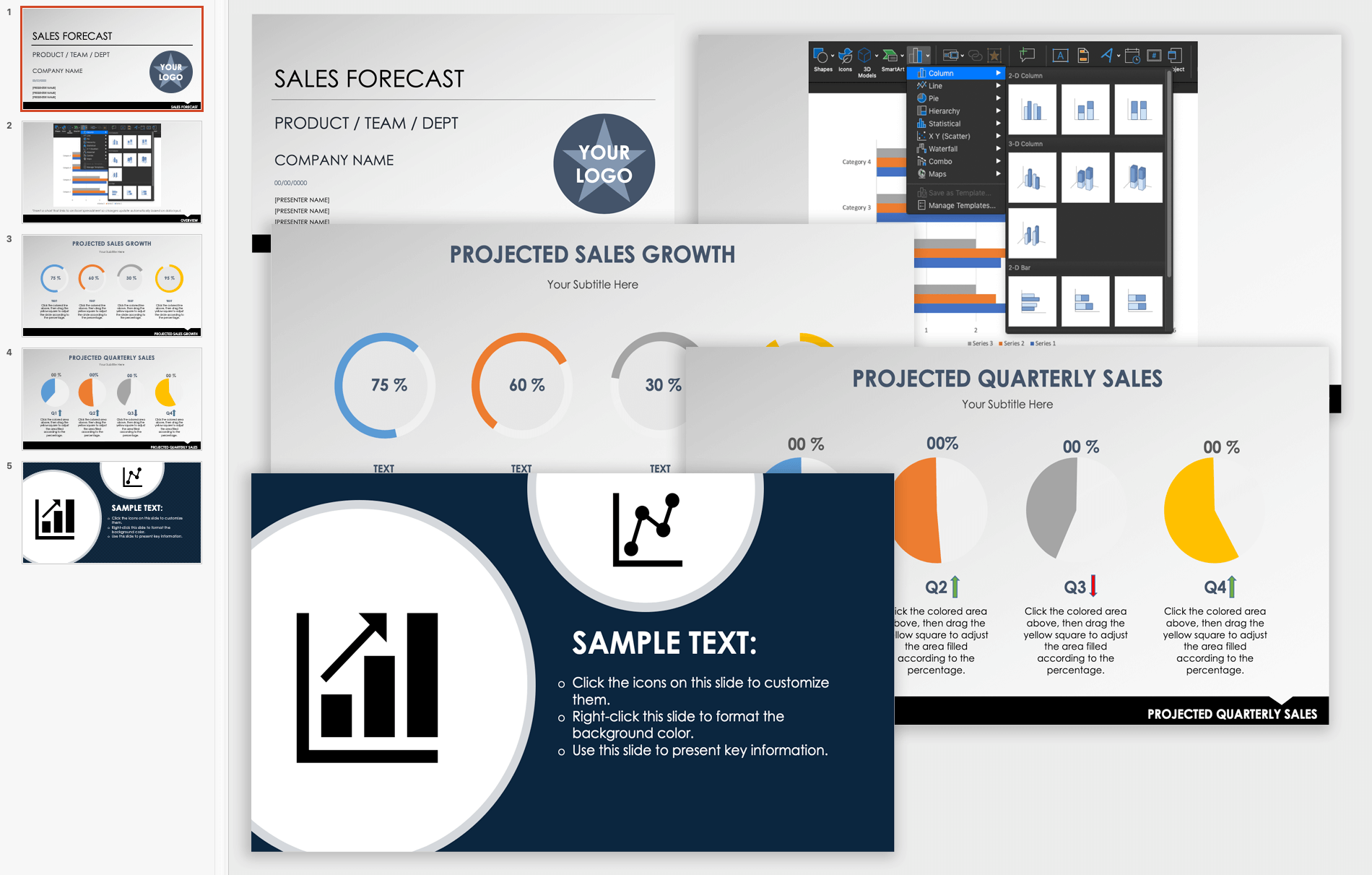 Sales Forecast Presentation Template