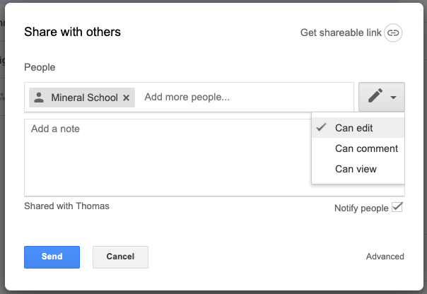 Google Drive Share Access Level Options