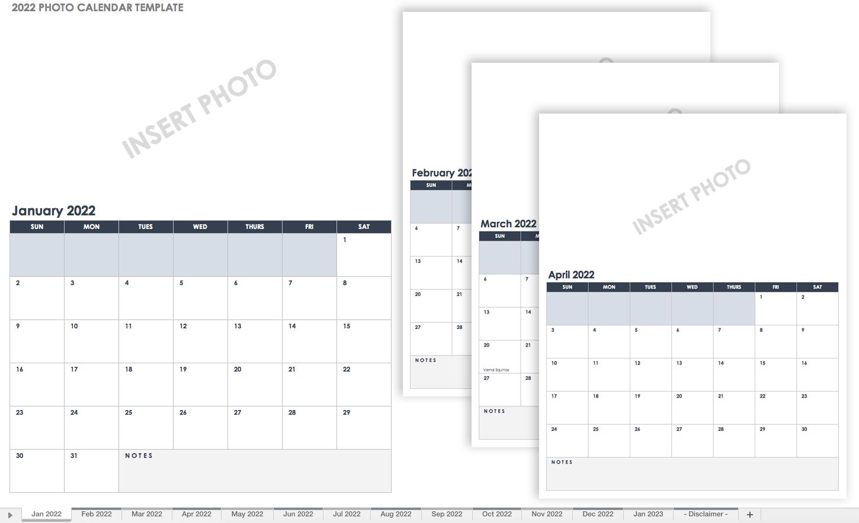 Personalized Calendar 2022.15 Free Monthly Calendar Templates Smartsheet