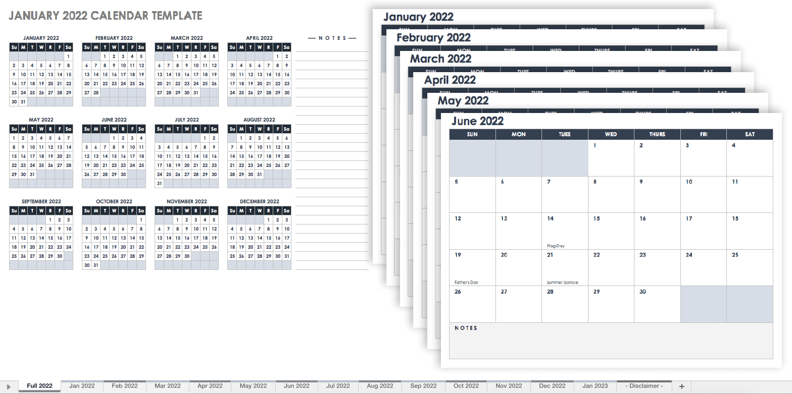 Multi Month Calendar Template from www.smartsheet.com