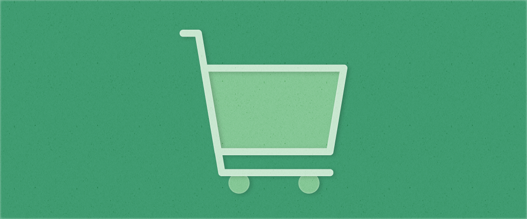 A simple illustration of a shopping cart