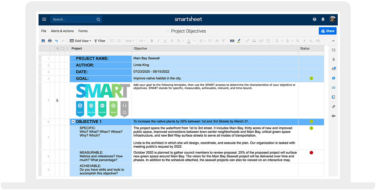 How To Write S M A R T Project Objectives Smartsheet