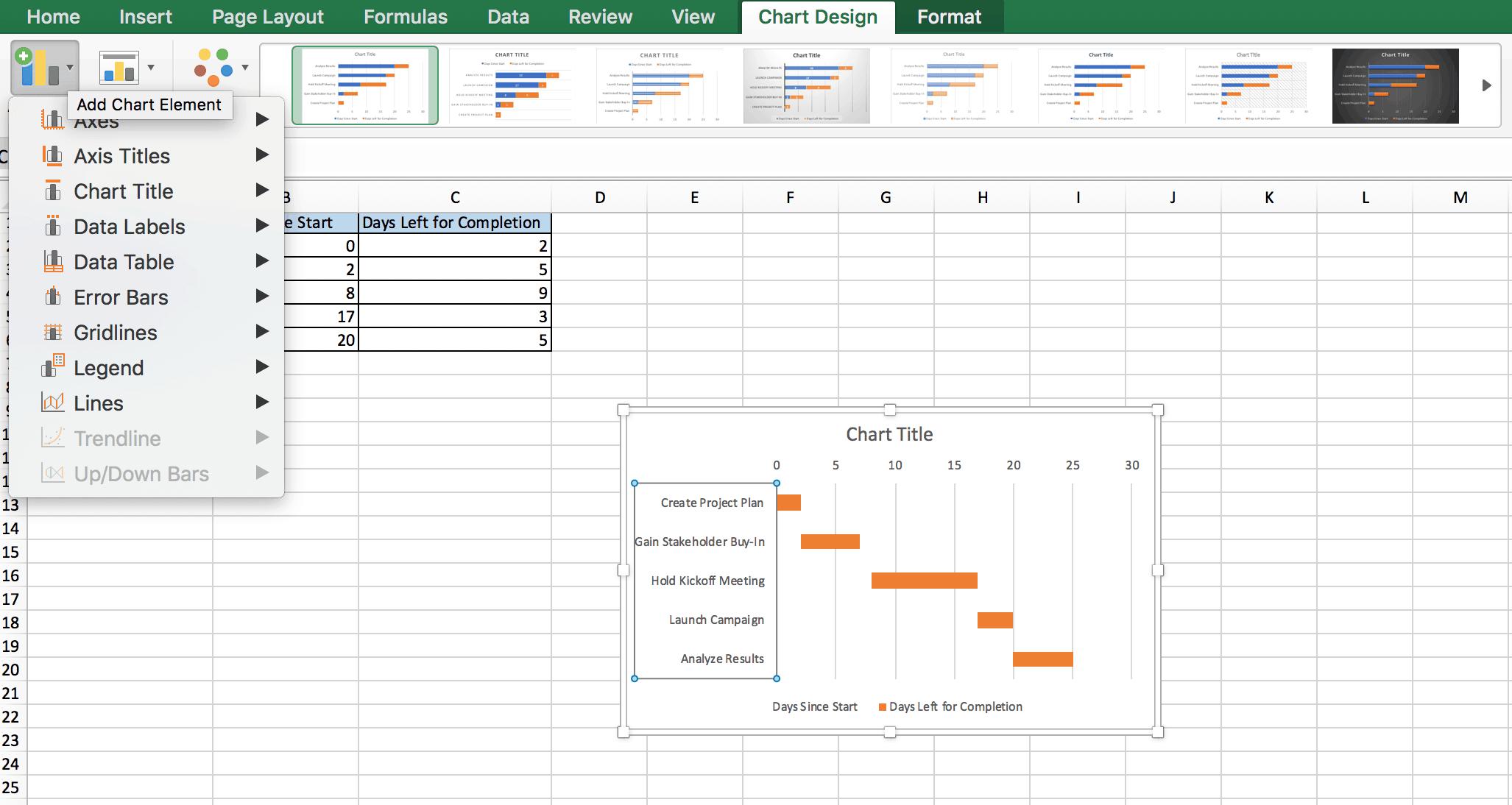 Add Chart Elements