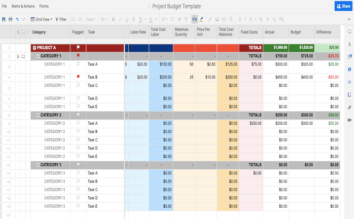 Basic Budget Excel Template from www.smartsheet.com