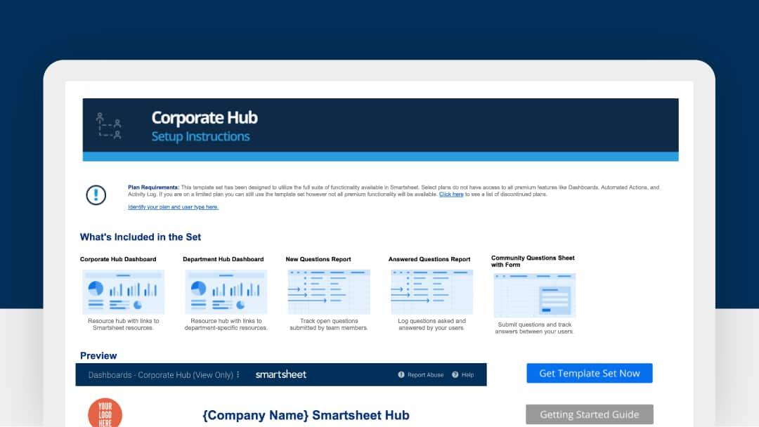 corporate hub template