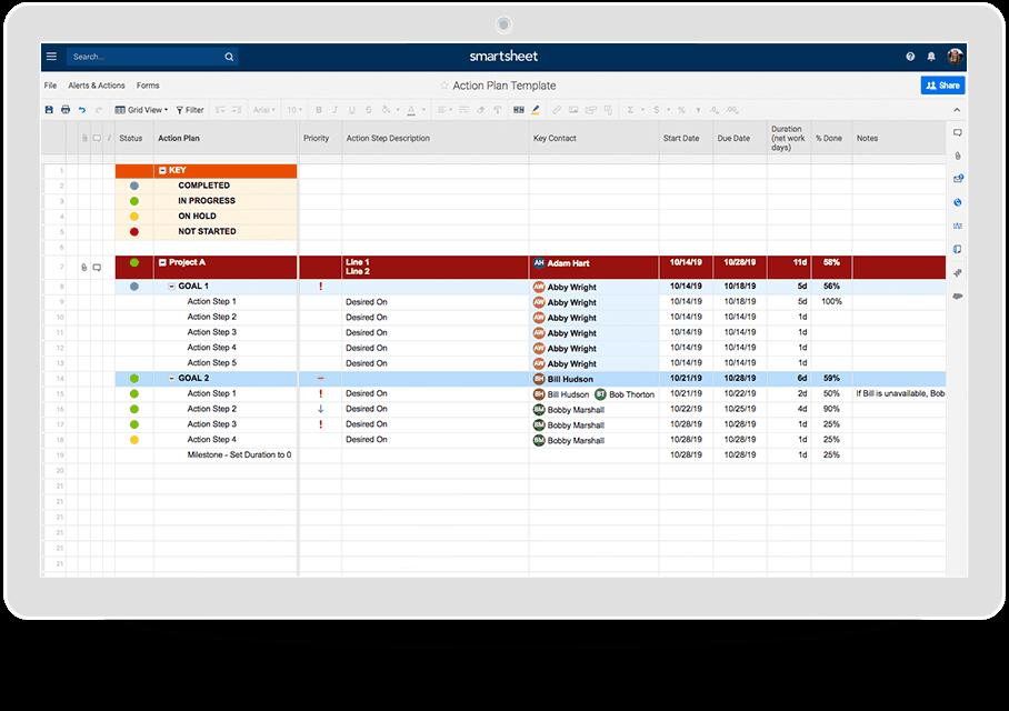 Excel Template Try Smartsheet