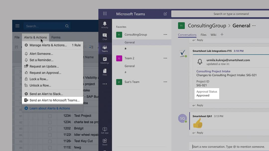 Work More Efficiently With Smartsheet for Microsoft Teams