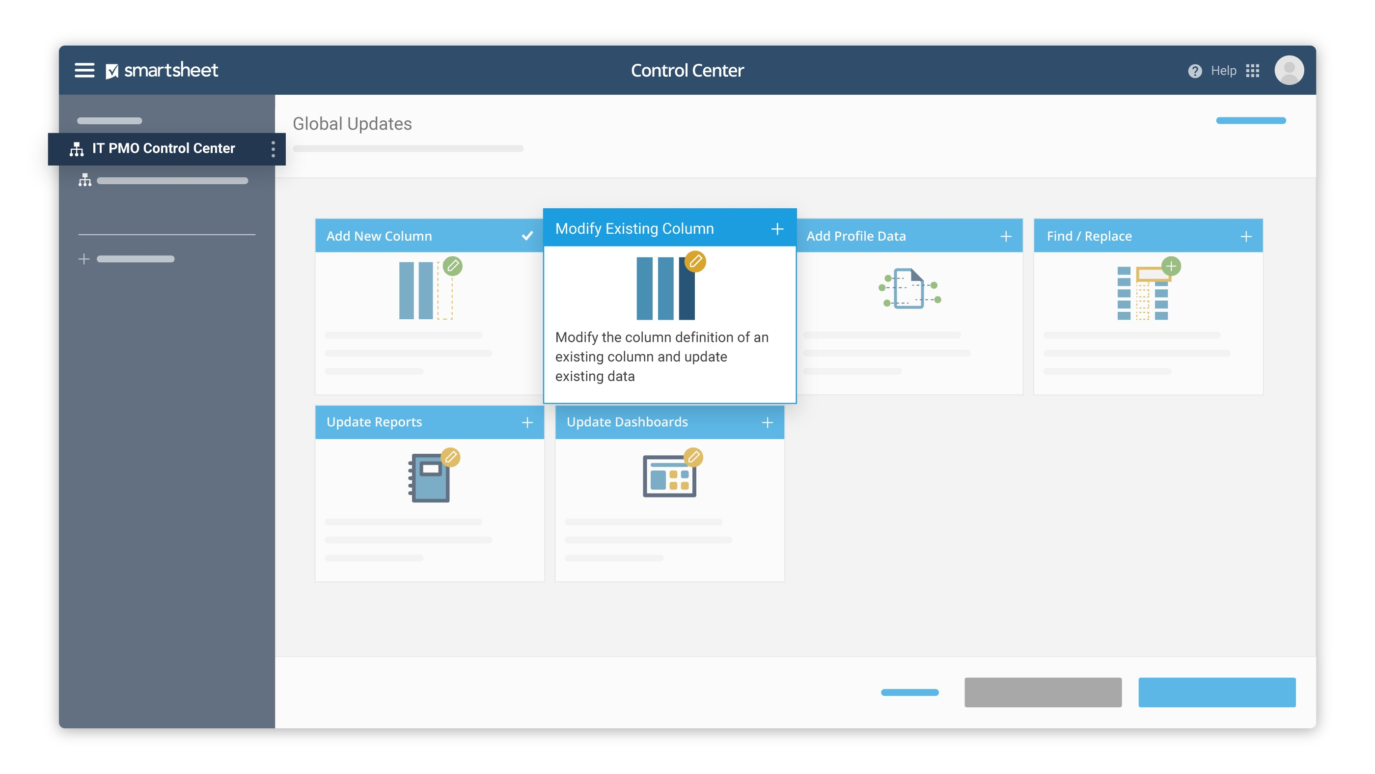 Reduce PM time spent manually updating hundreds of projects, reports, and dashboards for stakeholder updates.