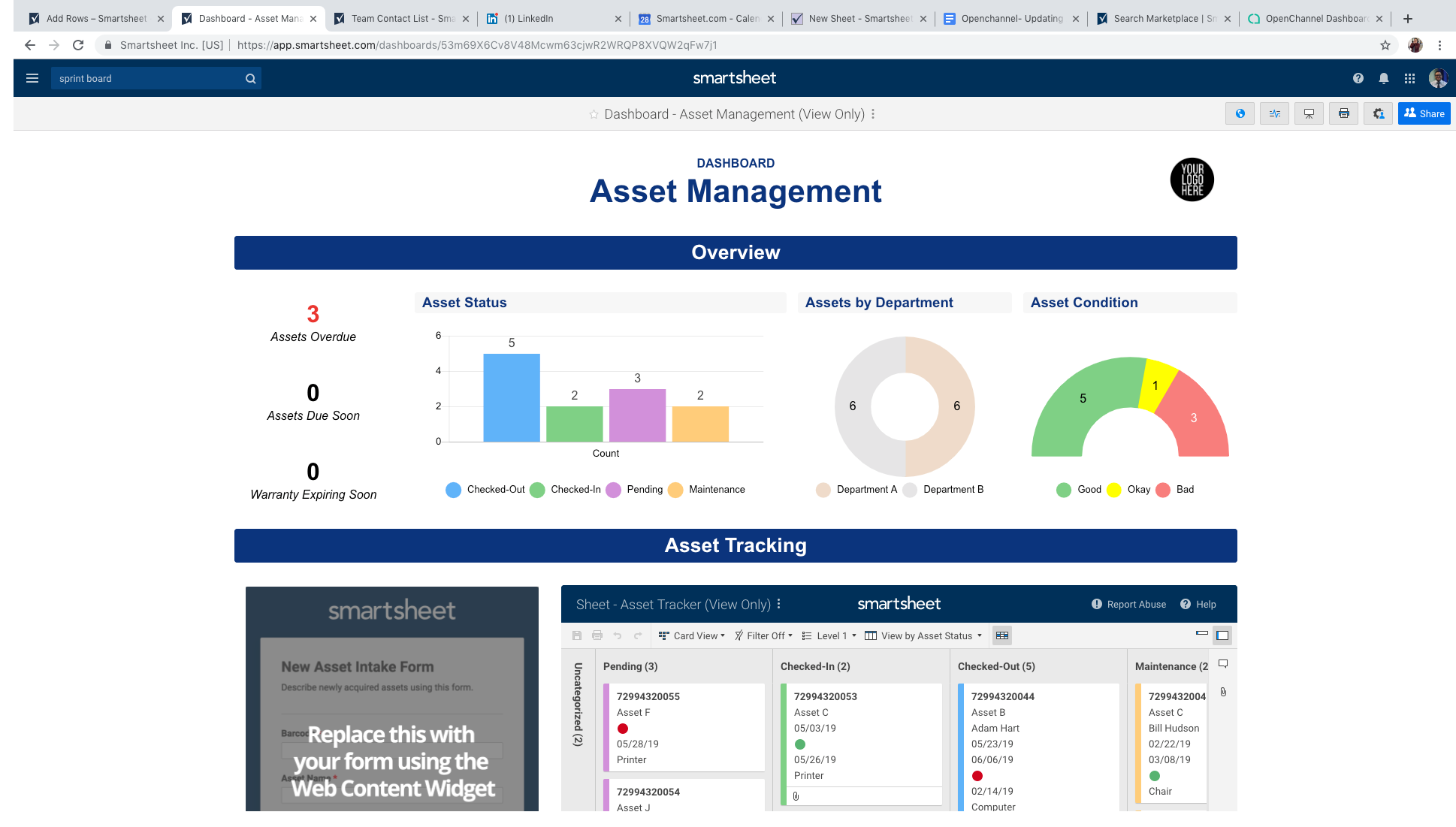 Asset Management Smartsheet