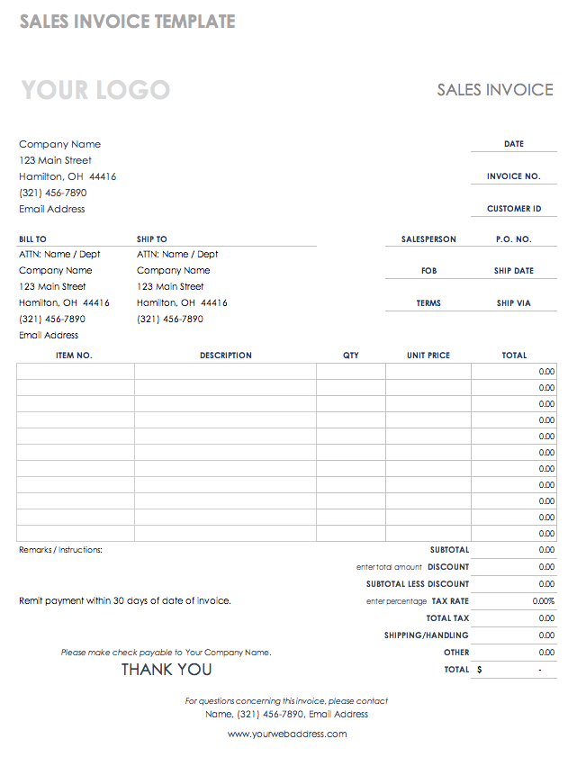 Service Invoice Template Pdf from www.smartsheet.com