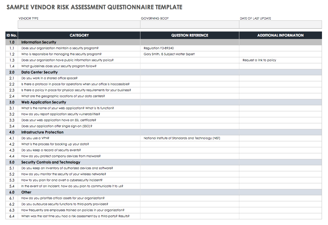 Health Assessment Questionnaire Template from www.smartsheet.com