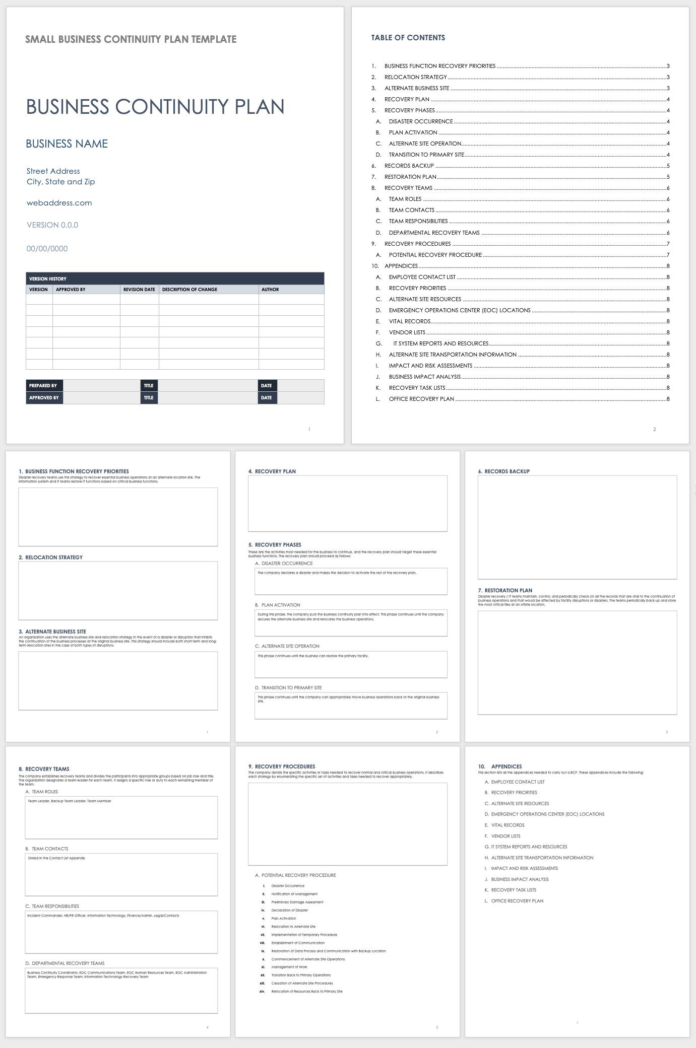 Contingency Plan Template For A Small Business from www.smartsheet.com