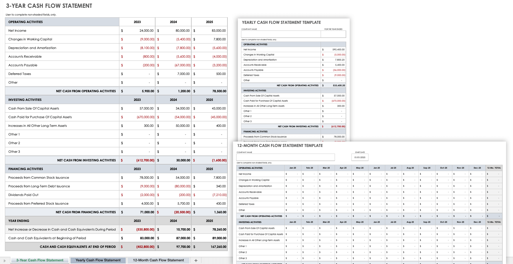 Personal Cash Flow Statement Template Excel from www.smartsheet.com