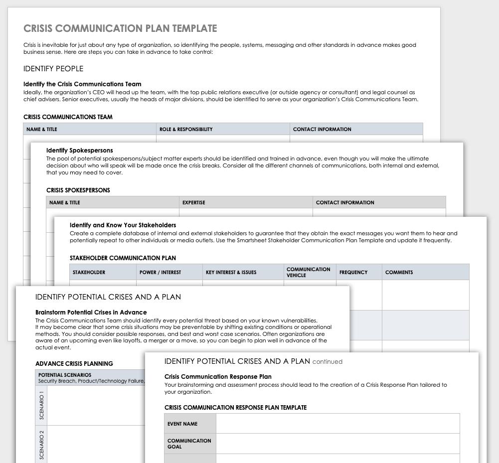 Communication Plan Template from www.smartsheet.com
