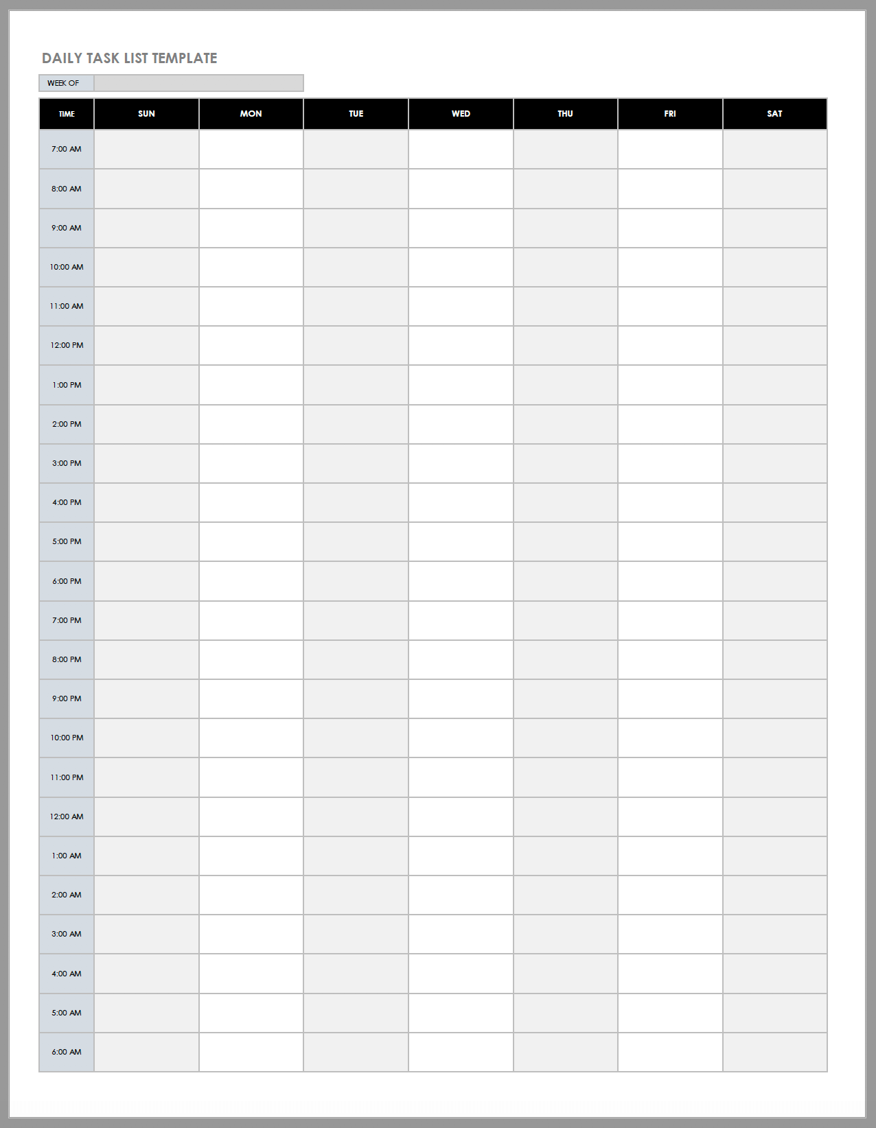 Free Daily Work Schedule Templates Smartsheet
