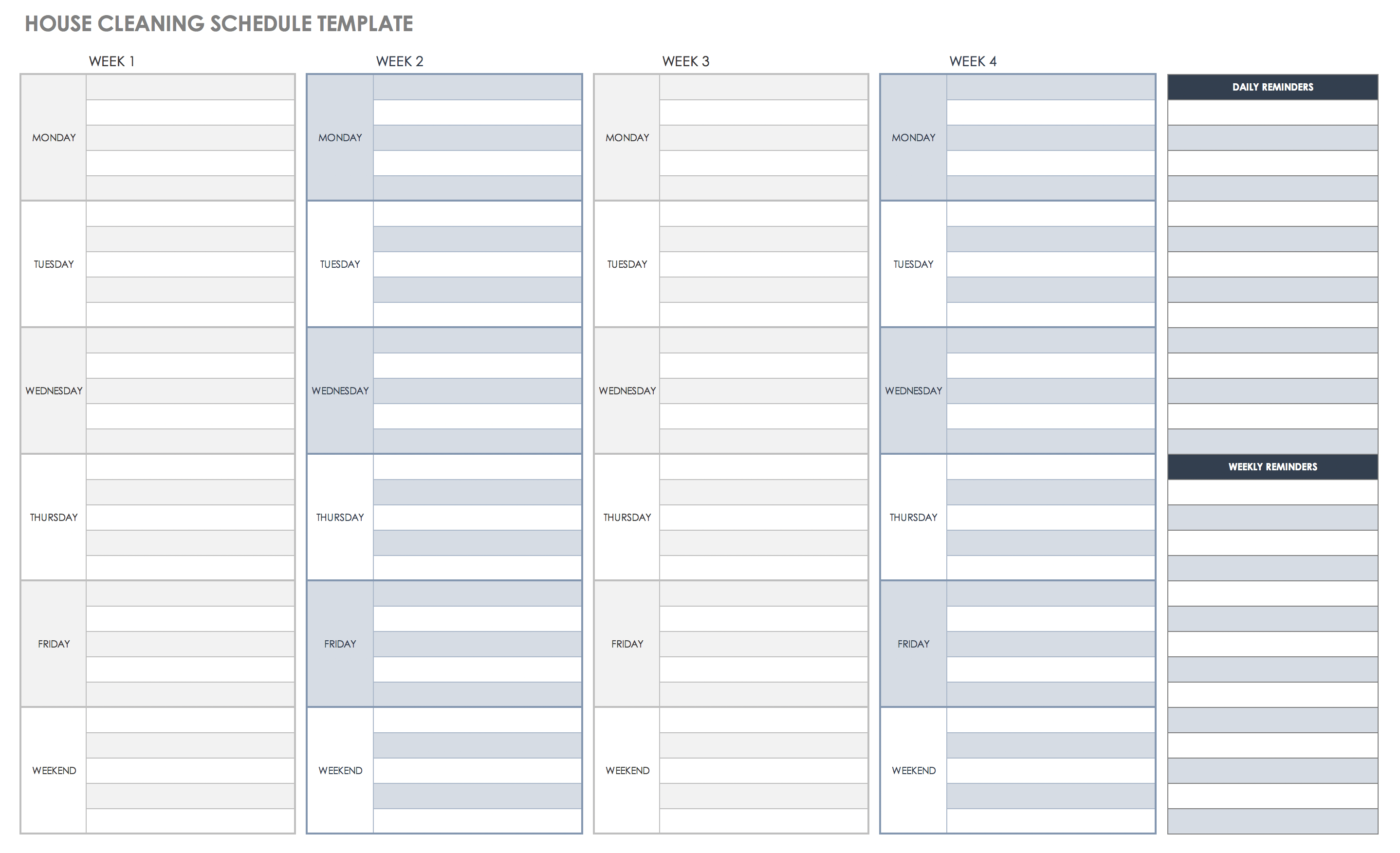 Cleaning To Do List Template from www.smartsheet.com