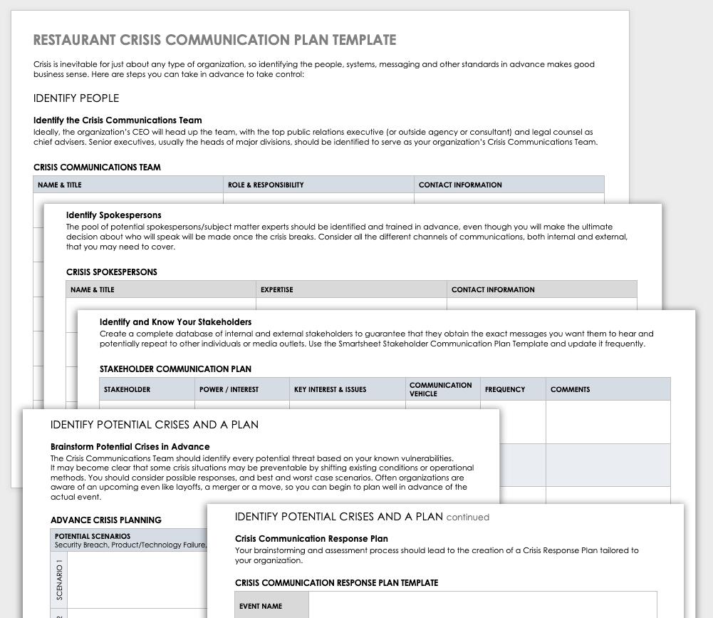Sample Communications Plan Template from www.smartsheet.com