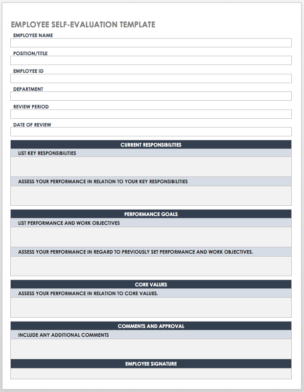 Free Self Evaluation Templates Smartsheet There are 2 ways to do a self assessment tax return. free self evaluation templates smartsheet