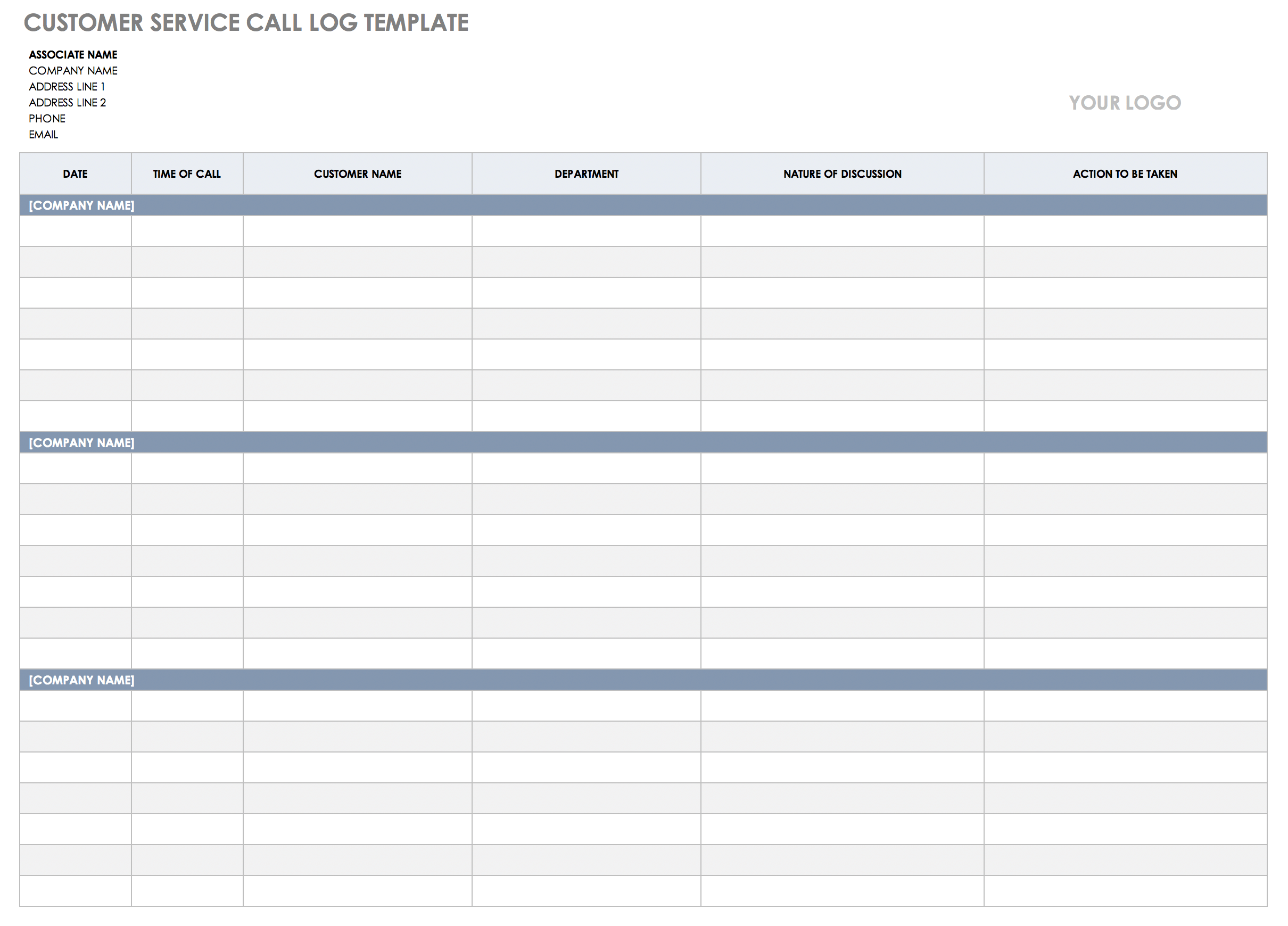 Phone Conversation Log Template from www.smartsheet.com