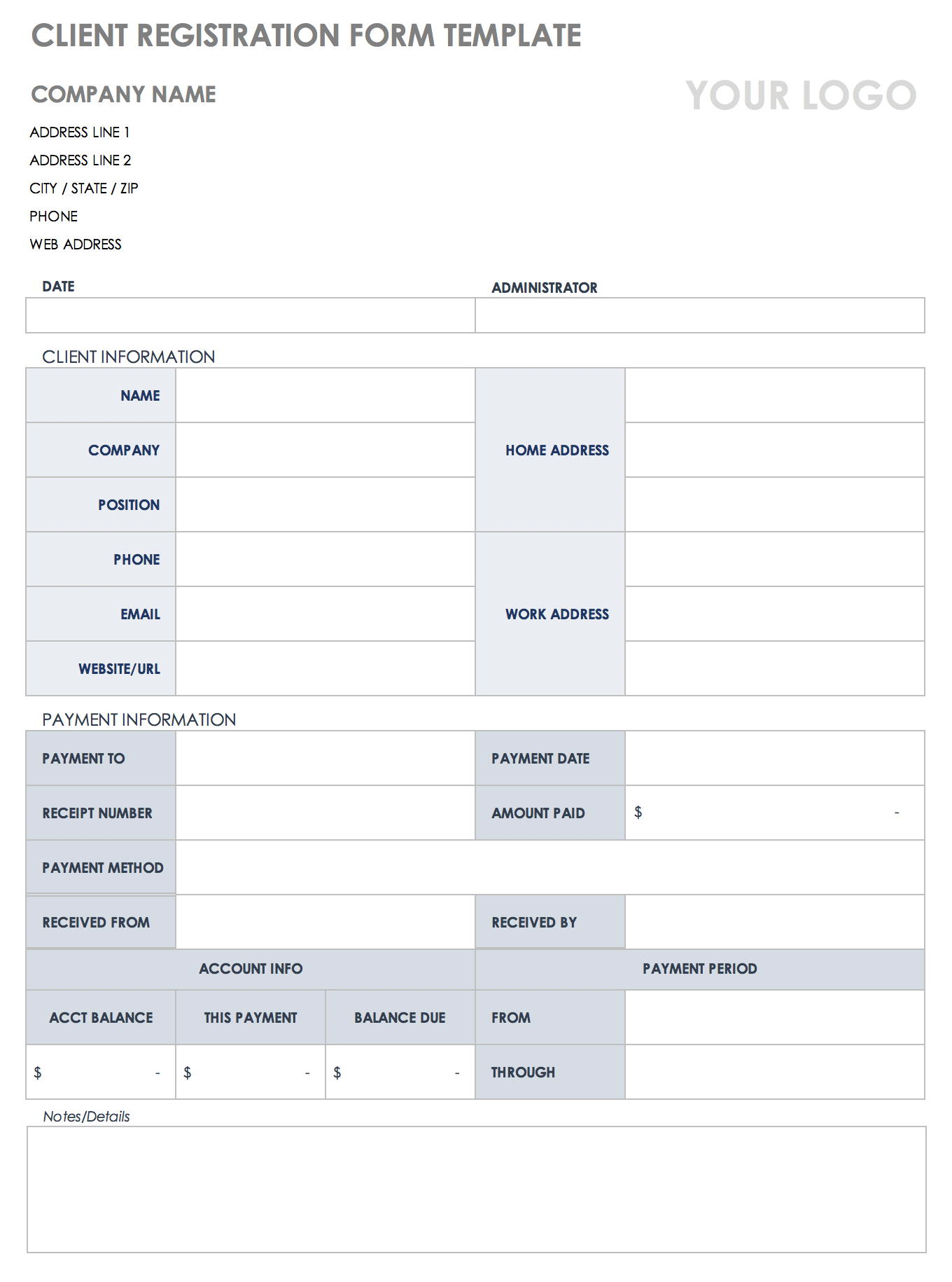Free Client Information Forms Templates Smartsheet