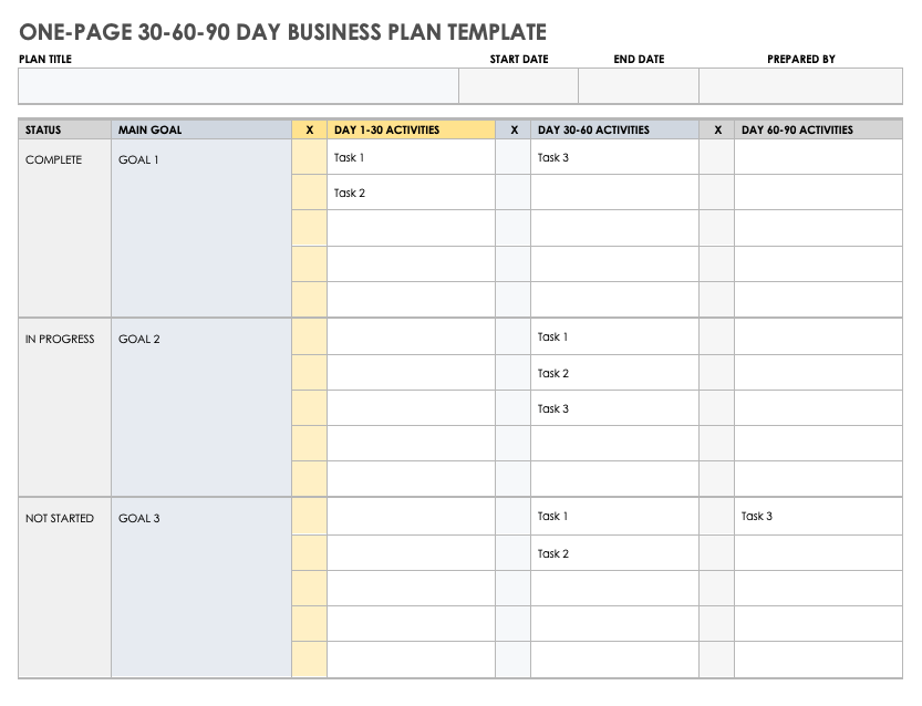 Free PDF Business Plan Templates   Smartsheet