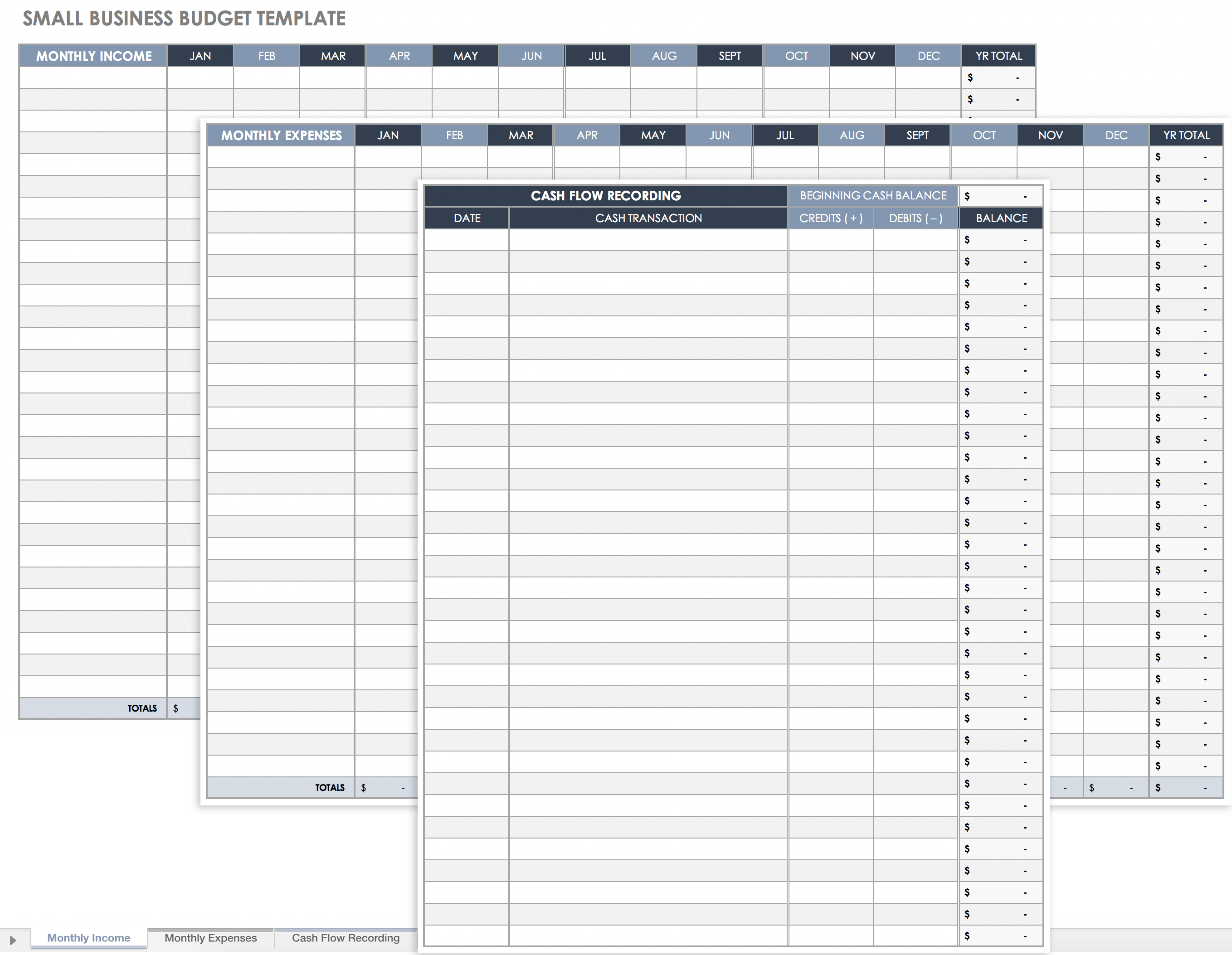 Small Business Budget Template