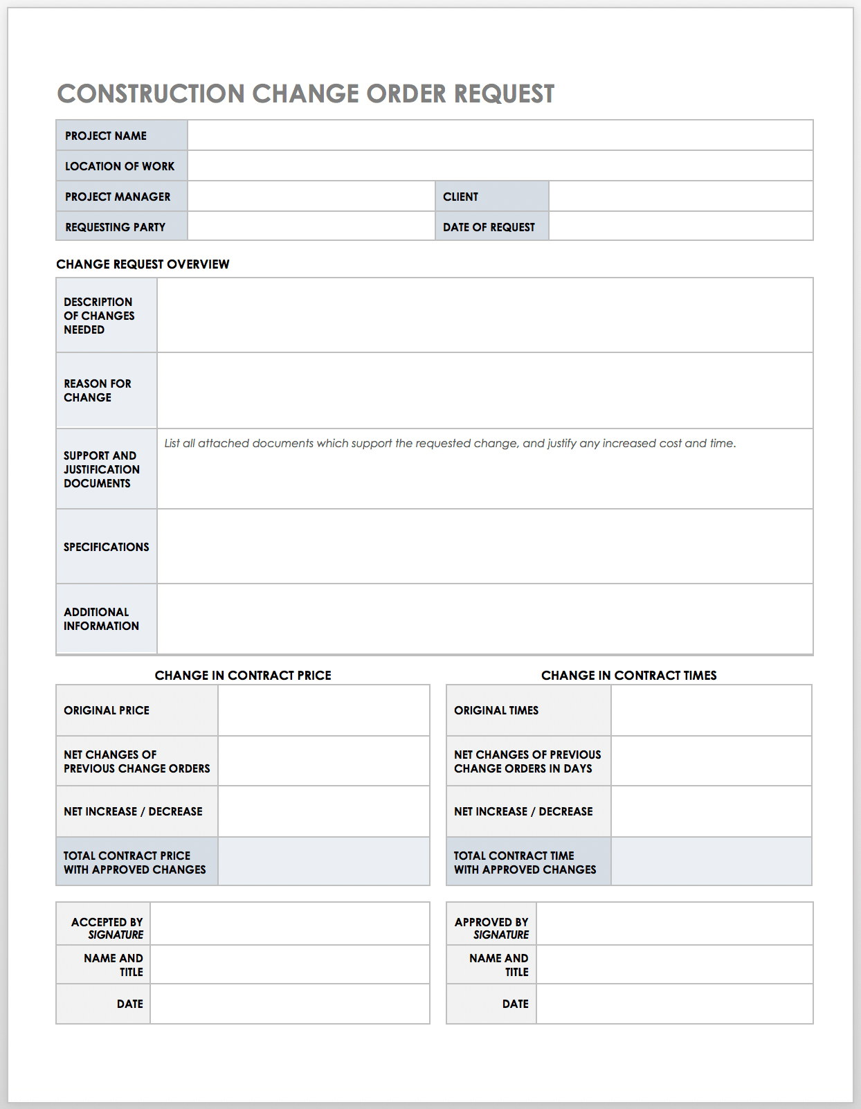 Free Construction Work Order Templates & Forms  Smartsheet Pertaining To Check Request Template Word