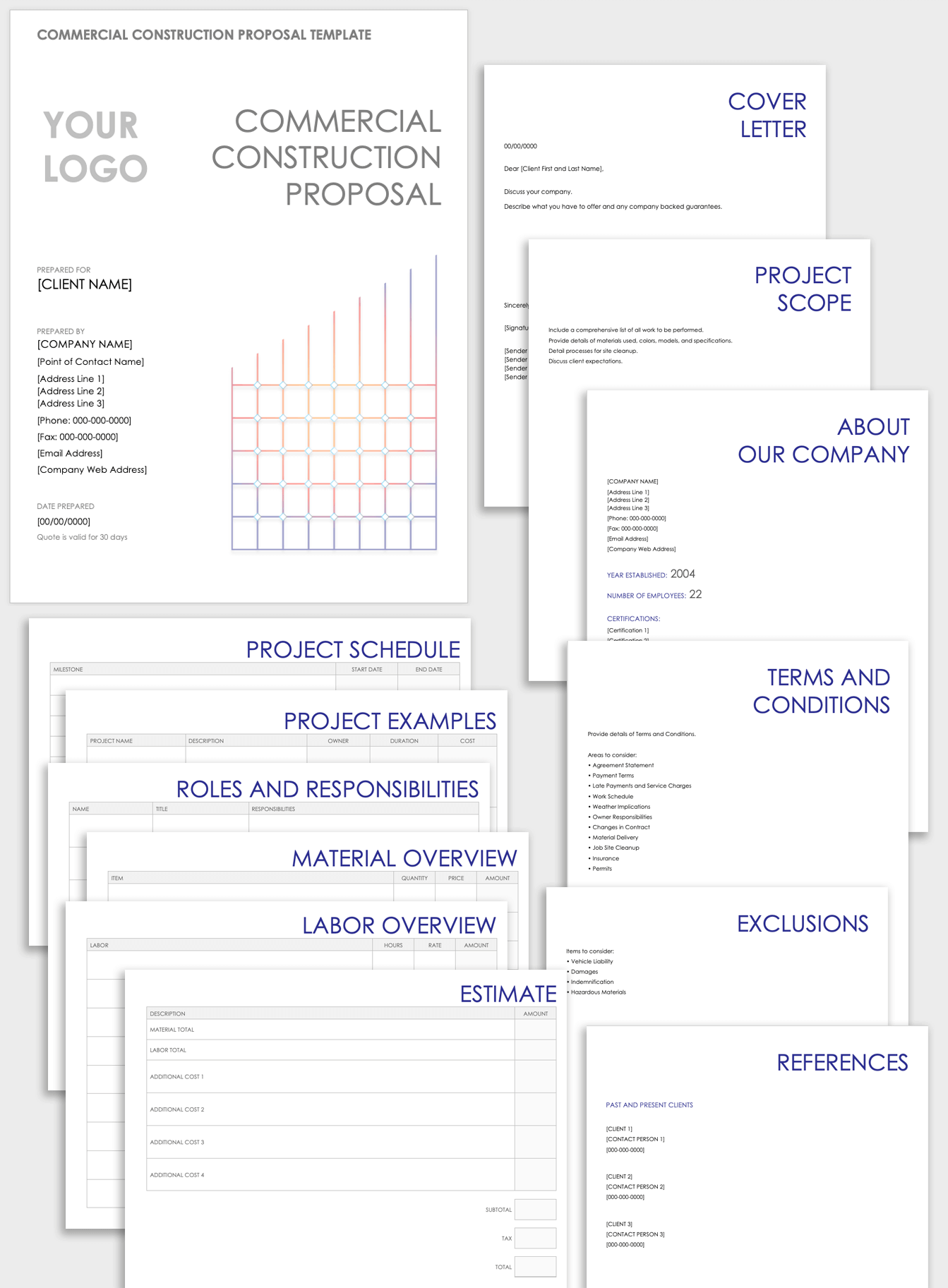 Free Construction Proposal Templates & Forms  Smartsheet With Free Construction Proposal Template Word