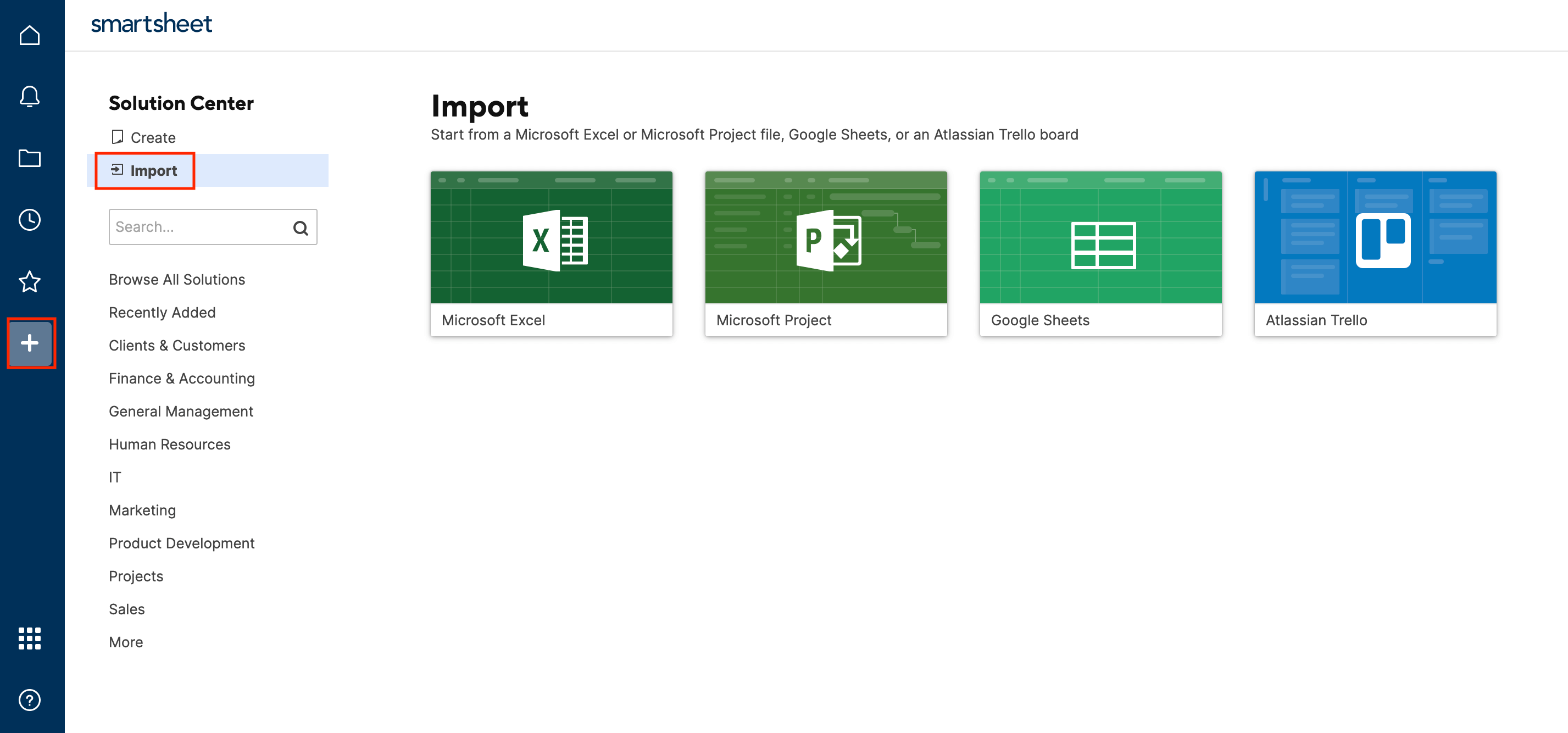 Import Excel Files to Smartsheet
