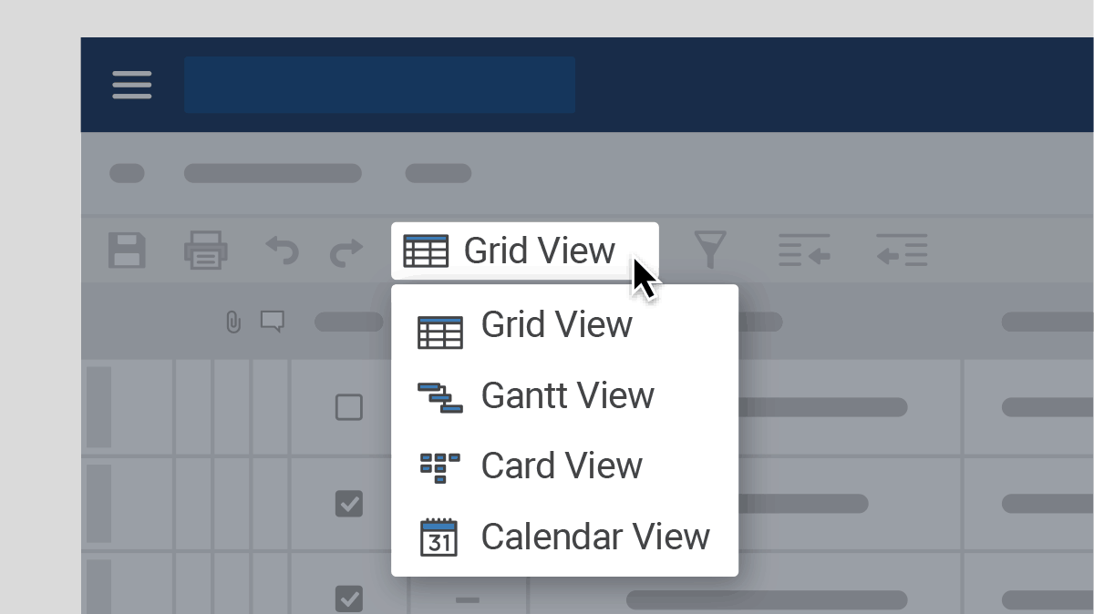 Smartsheet views