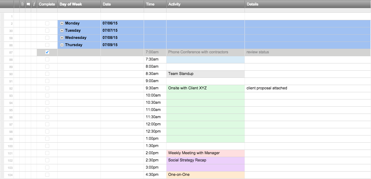 Free Excel Schedule Templates For Makers