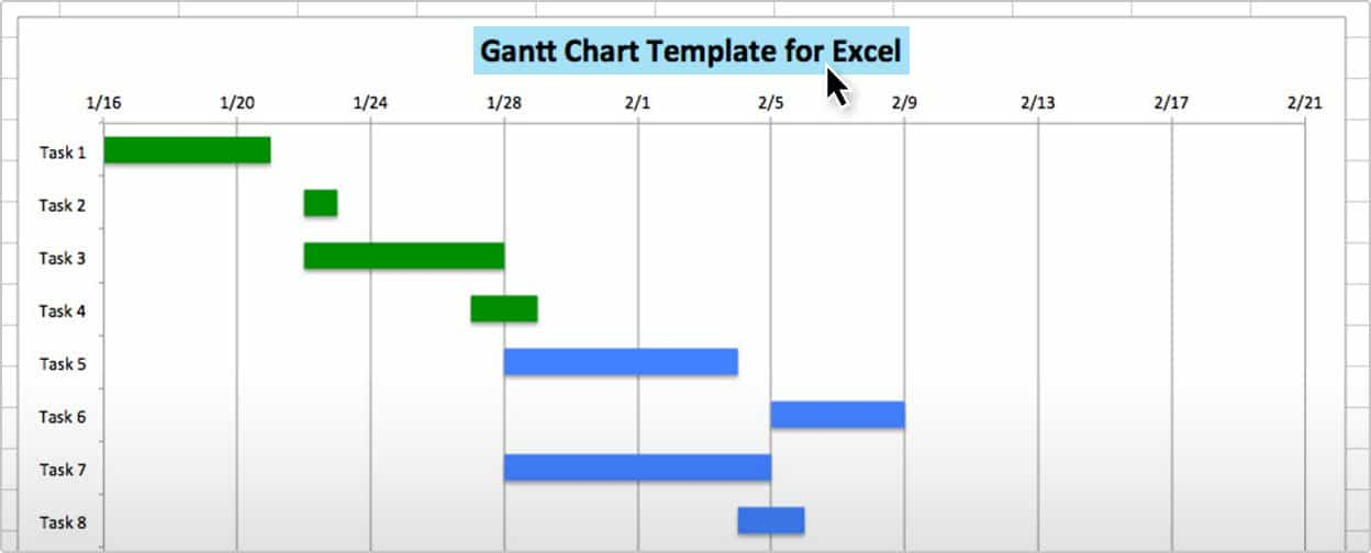 Use this free gantt chart excel template gantt chart template excel change title ccuart Image collections