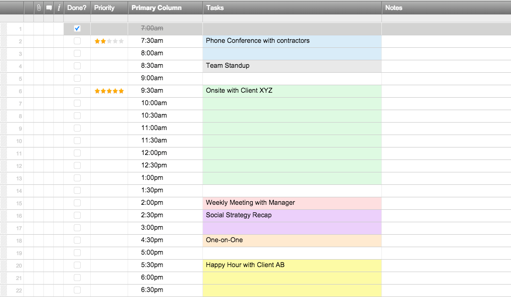 8 dailyscheduletemplatessmartsheet enpng - Free Schedule Template
