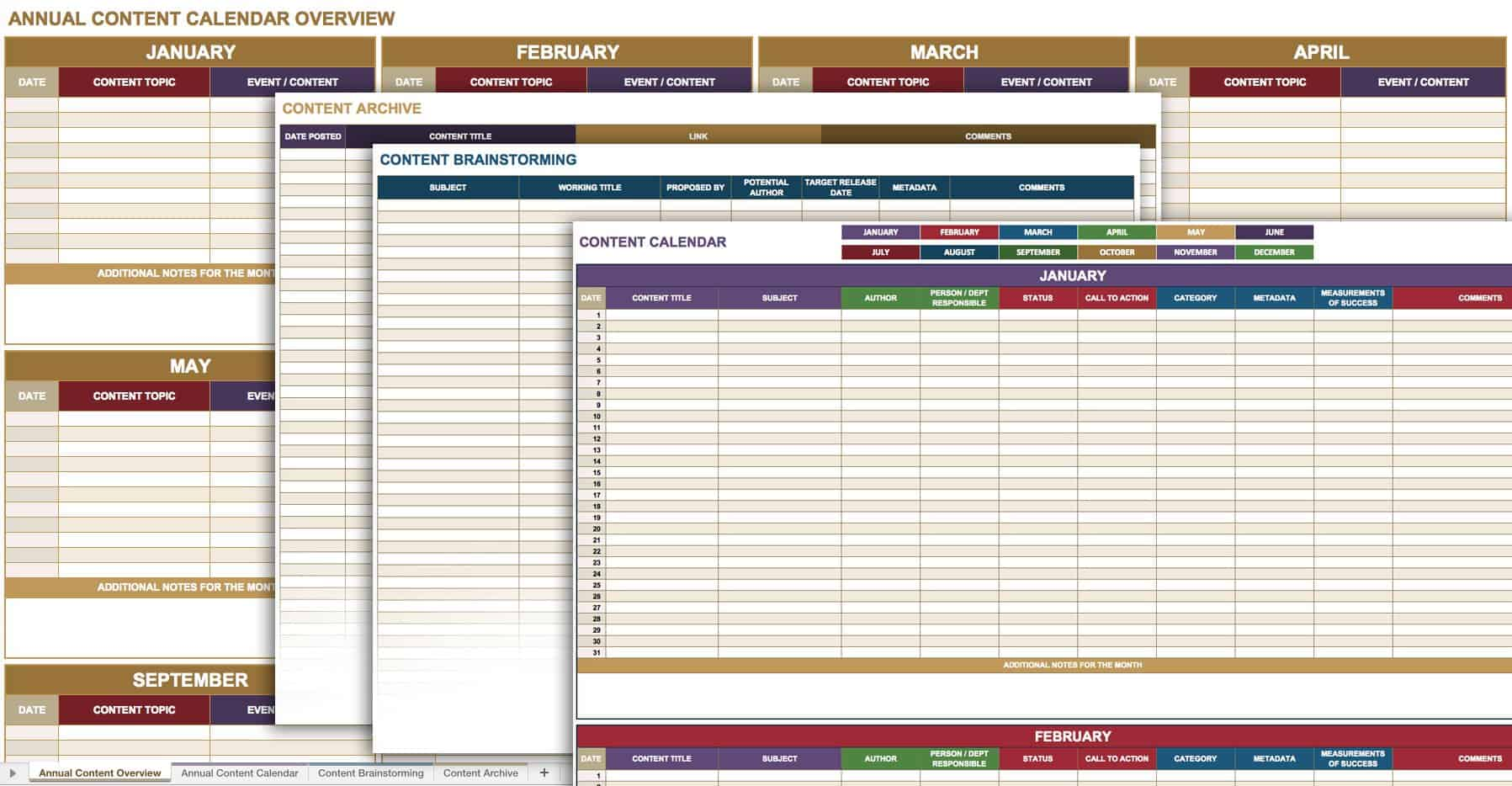 Free Social Media Templates Smartsheet - Content marketing schedule template