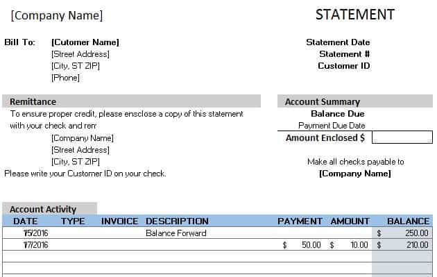 Free Accounting Templates In Excel - Sample invoice for bookkeeping services